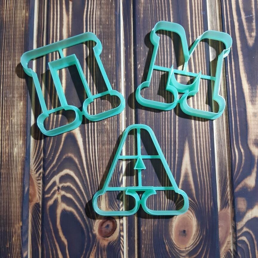 """Набор форм для пряников """"Буквы М, П и А"""" 8 см"""