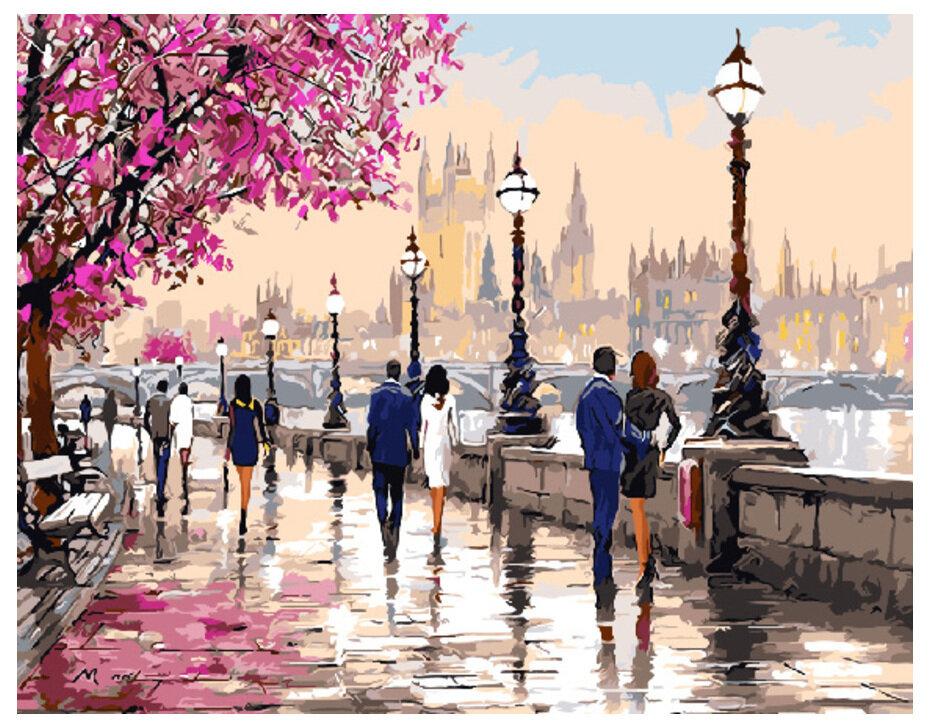 Картина по номерам GX 9640 Роматичный Лондон 40*50