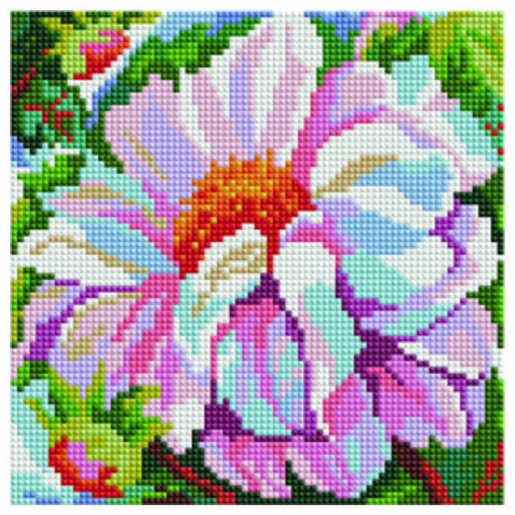 """Алмазная мозаика Paintboy Original""""Розовый цветок"""" 20х20"""