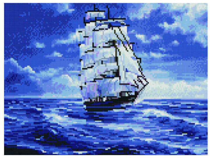 """Алмазная мозаика Paintboy Original""""Дальнее плавание"""" 30х40"""