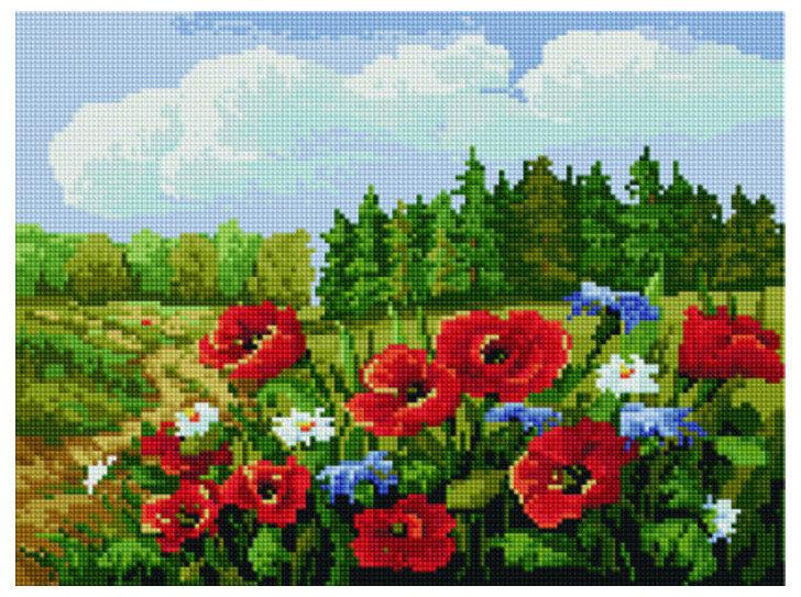 """Алмазная мозаика Paintboy Original""""Краски летнего поля"""" 30х40"""
