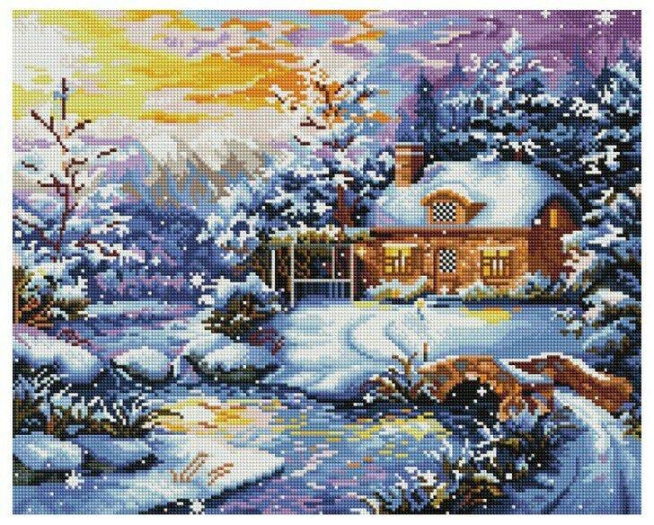 Алмазная мозаика GF 828 Рождественская ночь 40*50