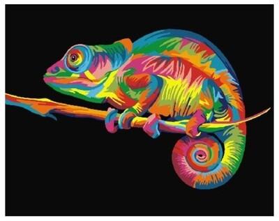 Картина по номерам GX 26199 Радужный хамелеон 40*50