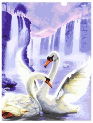 Картина по номерам Paintboy Original Танец лебедей 40х50