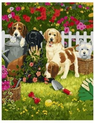 Картина по номерам Paintboy Original Помощники в саду 40х50
