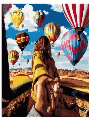 Картина по номерам GX 24420 Следуй за мной. Воздушные шары 40*50
