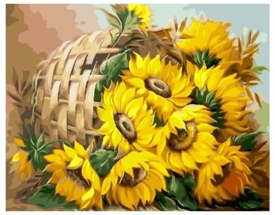 Картина по номерам Paintboy Original Цветы солнца 40х50