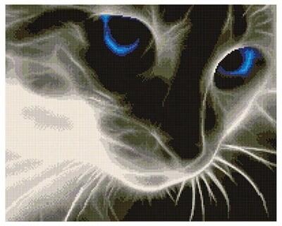 Алмазная мозаика GF 533 Призрачный котик 40*50