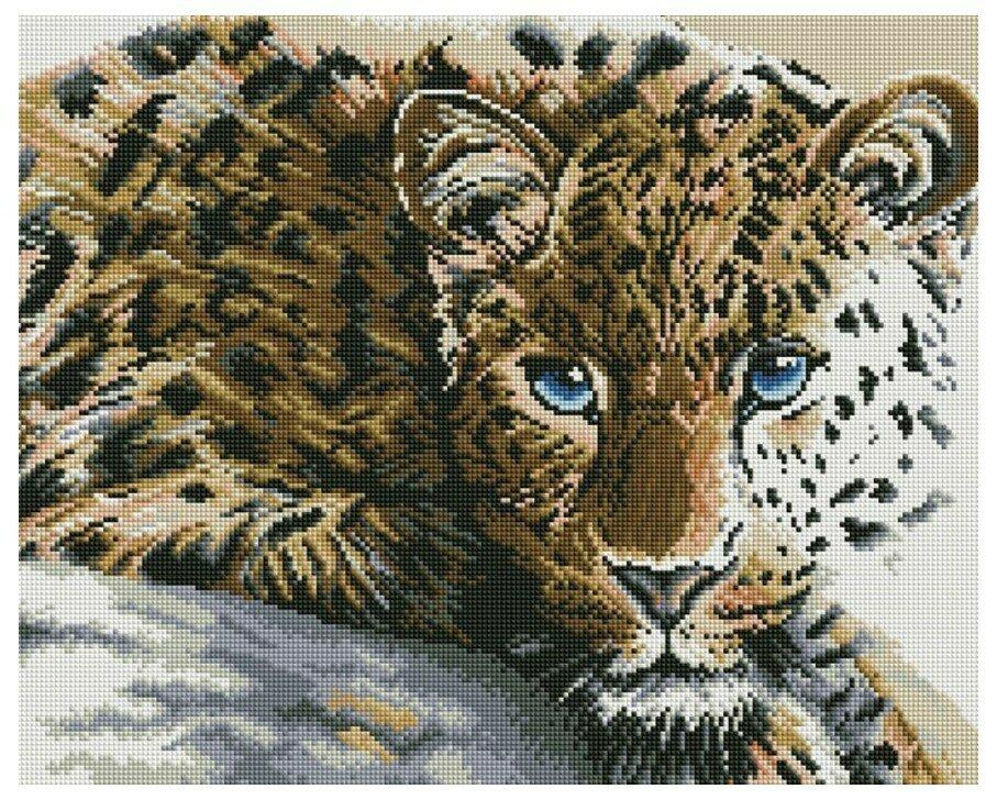 Алмазная мозаика GF 829 Леопард 40*50