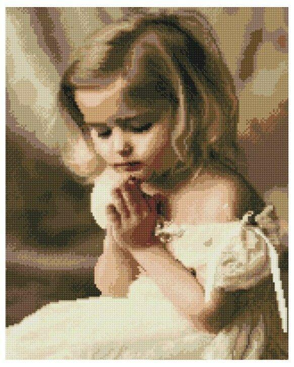 Алмазная мозаика GF 942 Детская молитва 40*50