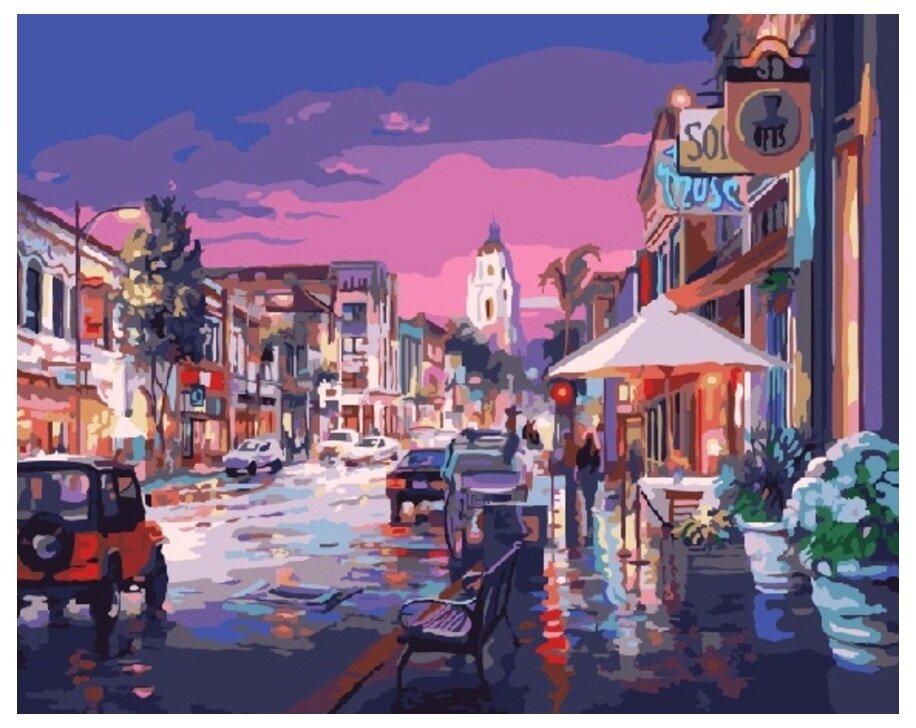 Картина по номерам GX 7899 Теплый городской вечер 40*50