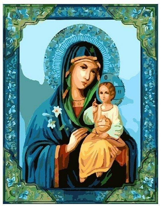 Картина по номерам GX 8411 Икона Божией Матери 40*50