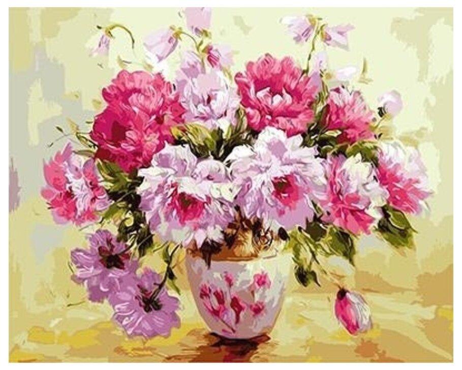 Картина по номерам GX 9389 Пионы в вазе (худ. Джанильятти Антонио) 40*50