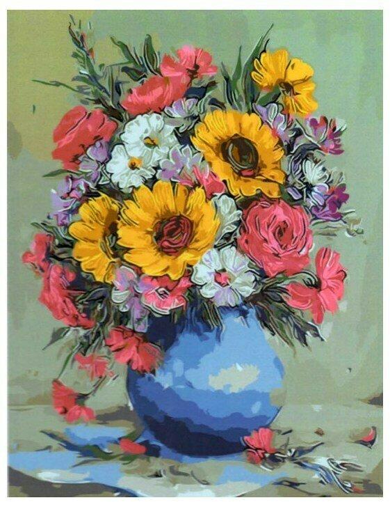 Картина по номерам GX 9417 Букет в вазе (Булгару) 40*50