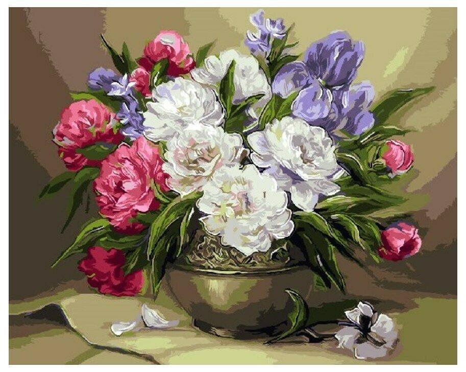 Картина по номерам GX 9454 Цветочный натюрморт (худ. Anca Bulgaru) 40*50