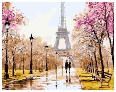 Картина по номерам GX 26095 Прогулка по Парижу 40*50