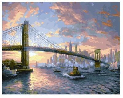 Картина по номерам GX 25269 Рассвет над Нью-Йорком (Кинкейд)40*50