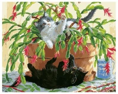 Картина по номерам GX 27401 Игривые котята 40*50