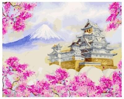 Картина по номерам PK 22020 (GX 27546) Замок Химедзи 40*50