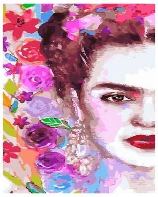 Картина по номерам PK 33092 Фрида в цветах 40*50