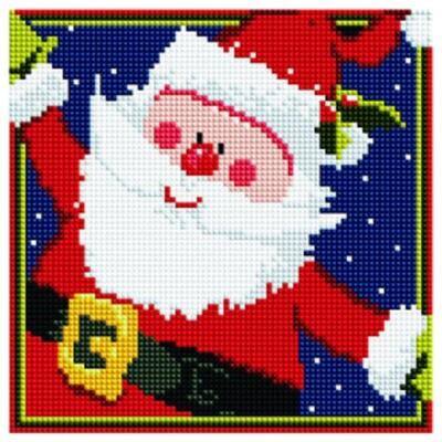 Алмазная мозаика BF 636 Весёлый Дед Мороз 20*20