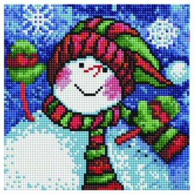 Алмазная мозаика BF 145 Весёлый снеговик 20*20