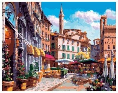 Картина по номерам PK 18055 (GX 26681) Цветочный квартал 40*50