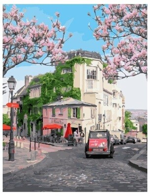 Картина по номерам PK 22069 (GX 27549) Отпуск в Париже 40*50