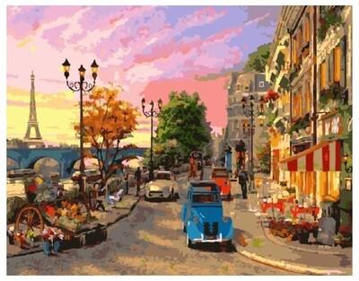 Картина по номерам GX 9164 Улочки Парижа 40*50