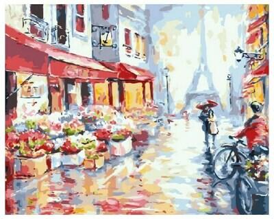 Картина по номерам GX 7959 Вдвоём по Парижу 40*50