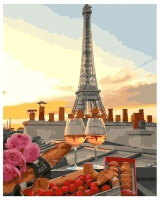 Картина по номерам PK 24002 (GX 28051) Закат в Париже 40*50