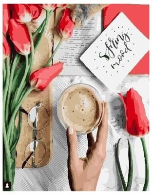 Картина по номерам GX 26718 Утренний кофе 40*50