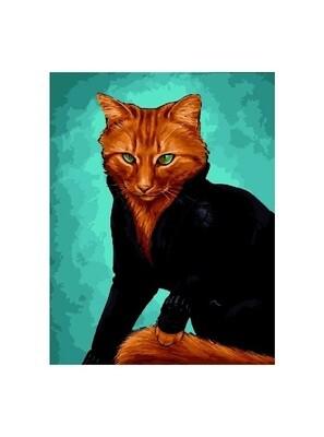 Картина по номерам GX 27634 Бойцовый кот 40*50