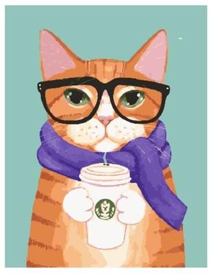 Картина по номерам PK 30053 Кофе и шарфик 40*50