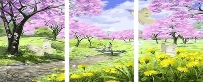 Картина по номерам PX 5111 Весенний сад 40*50*3