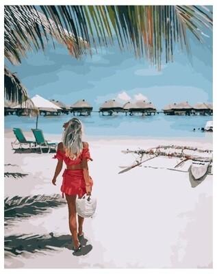 Картина по номерам PK 24089 (GX 28185) На тропическом пляже 40*50