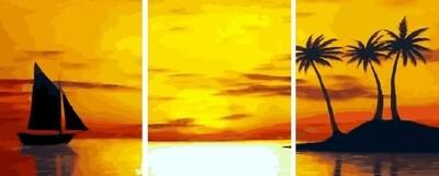 Картина по номерам, триптих 40x50 см - KX-0076