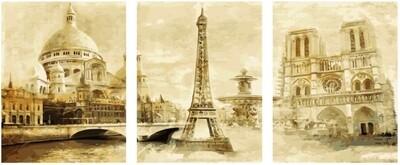 Картина по номерам, триптих 40x50 см - KX-0063