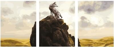 Картина по номерам, триптих 40x50 см - KX-0065