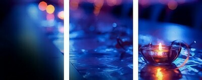 Картина по номерам, триптих 40x50 см - Свеча