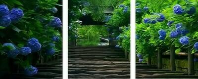 Картина по номерам, триптих 40x50 см - Бревенчатый мост