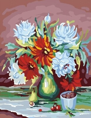Картина по номерам 40х50 - Пышные цветы