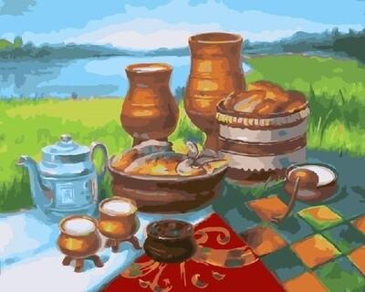 Картина по номерам 40х50 - Деревенский натюрморт