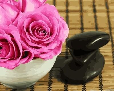 Картина по номерам 40х50 - Розы и камни
