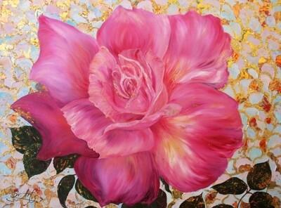 Картина по номерам 40х50 - Пышная роза