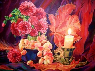 Картина по номерам 40х50 - Цветы и виноград