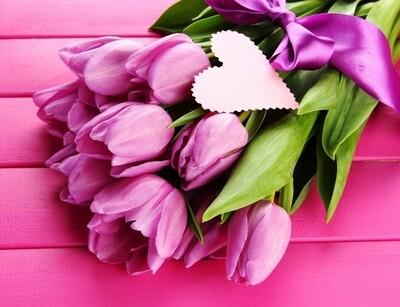 Картина по номерам 40х50 - Розовые тюльпаны