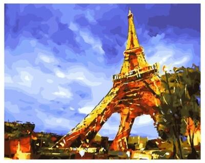 Живопись на холсте Paintboy Original, 40х50 см, PK 45035 Блеск Парижа
