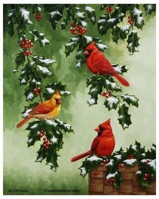 Картина по номерам 40х50 - Зимние птицы, 40х50 см