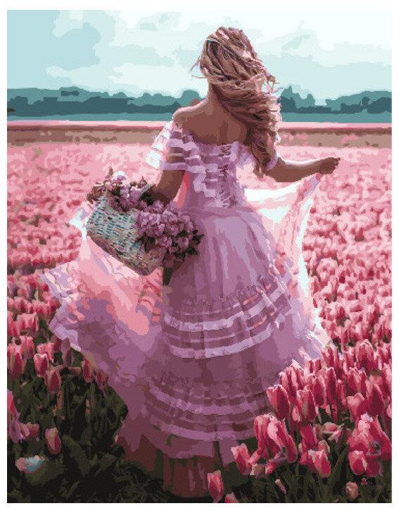 Картина по номерам GX 30366 Девушка в цветочном поле 40*50